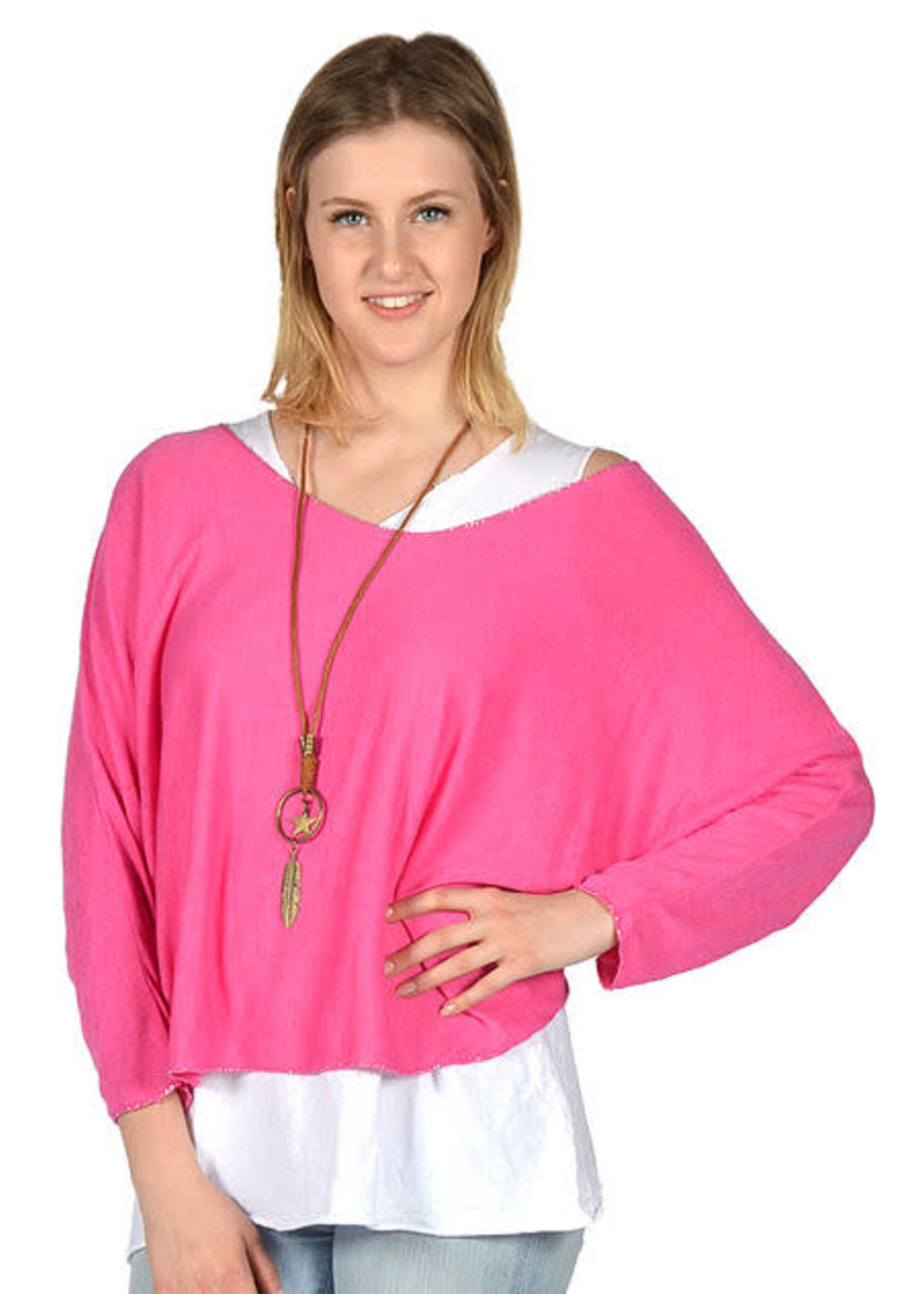 Catherine Lily White 2 Piece Tunic With Necklace