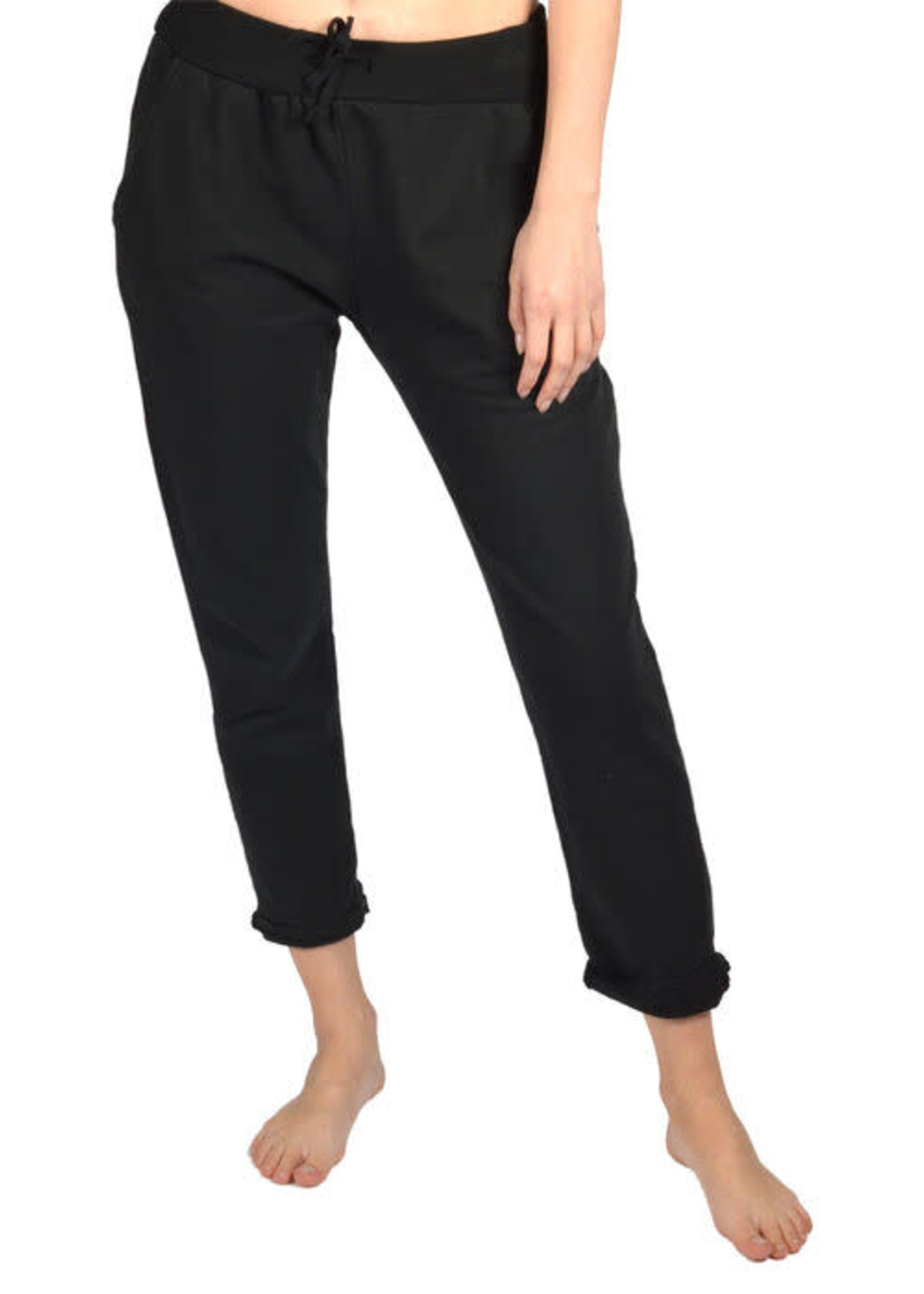 Catherine Lily White Rolled Cuff Jogger