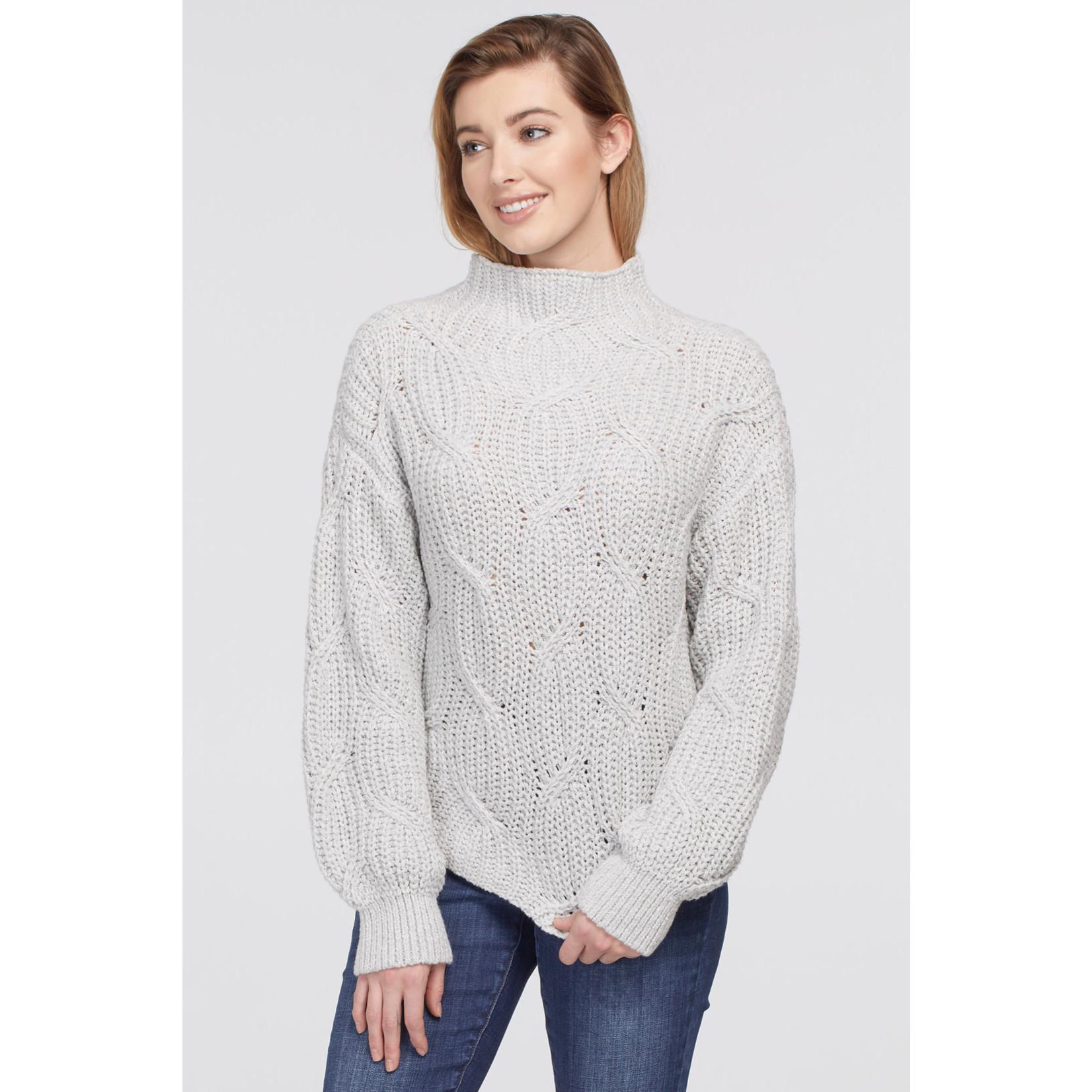 Tribal High Neck Oversized Sweater