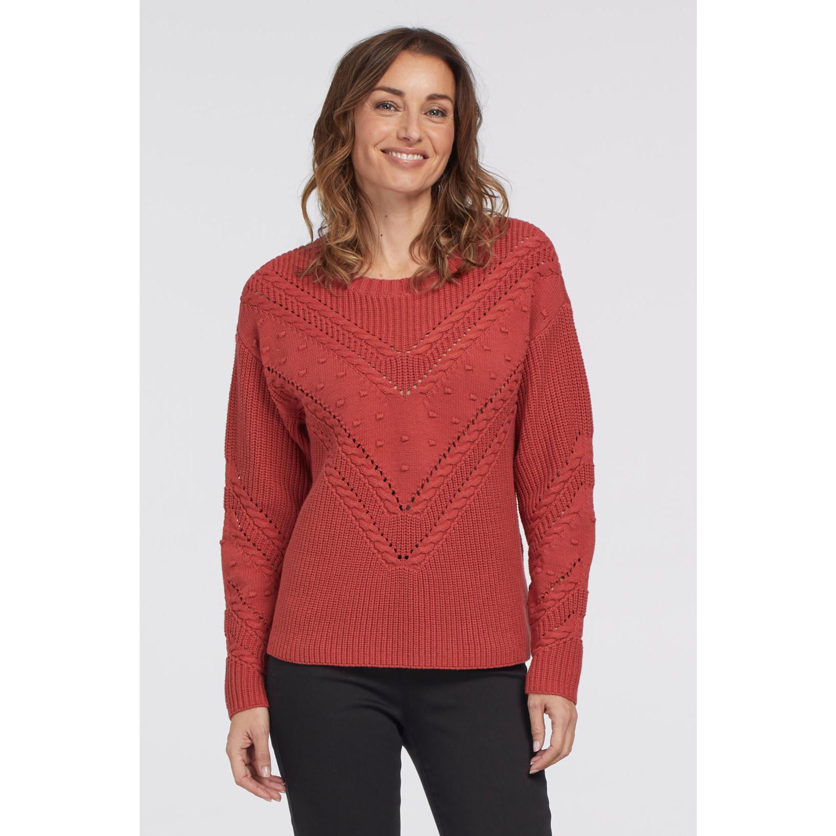 Tribal Sweater With Pompom