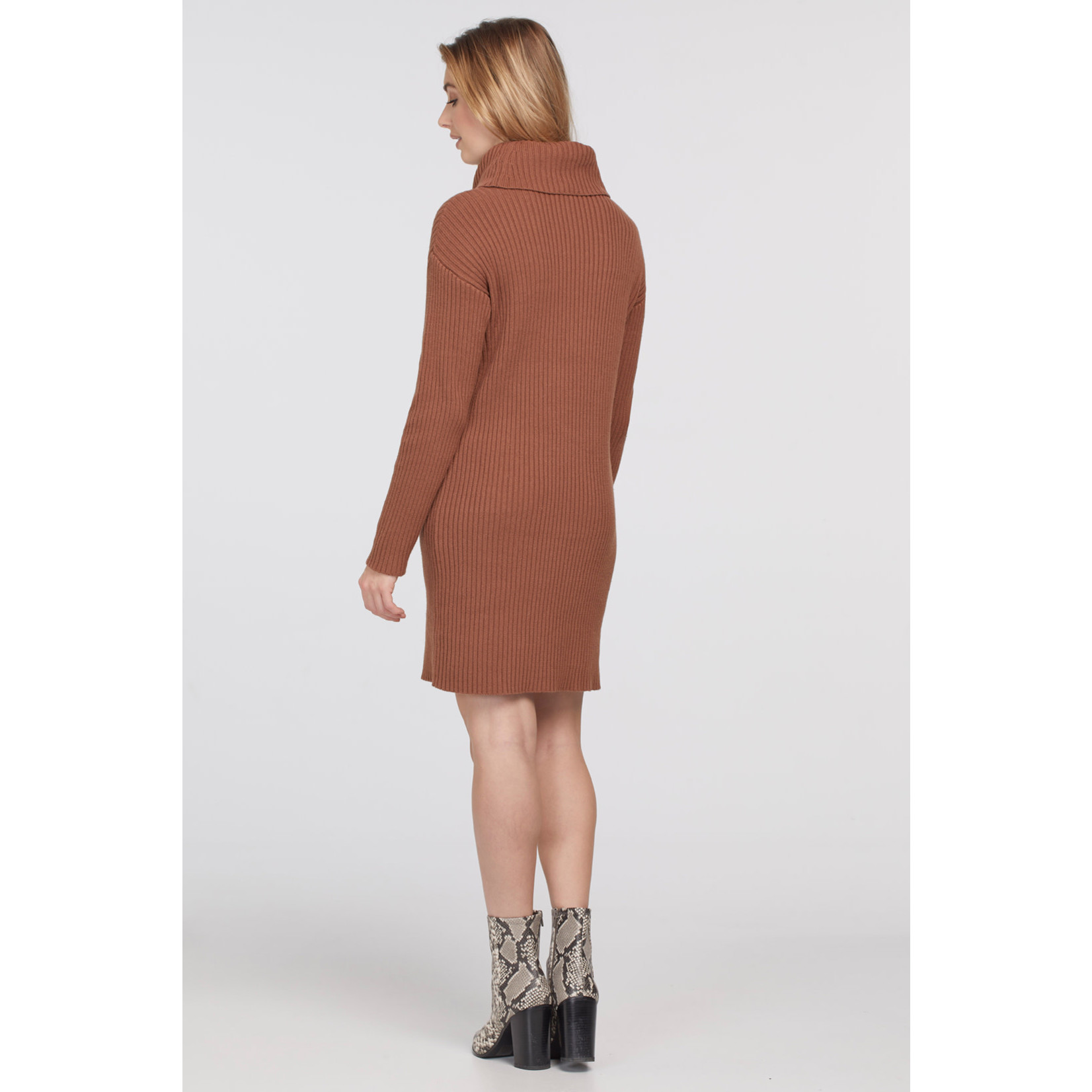 Tribal Cowl Neck Sweater Dress *More Colors*