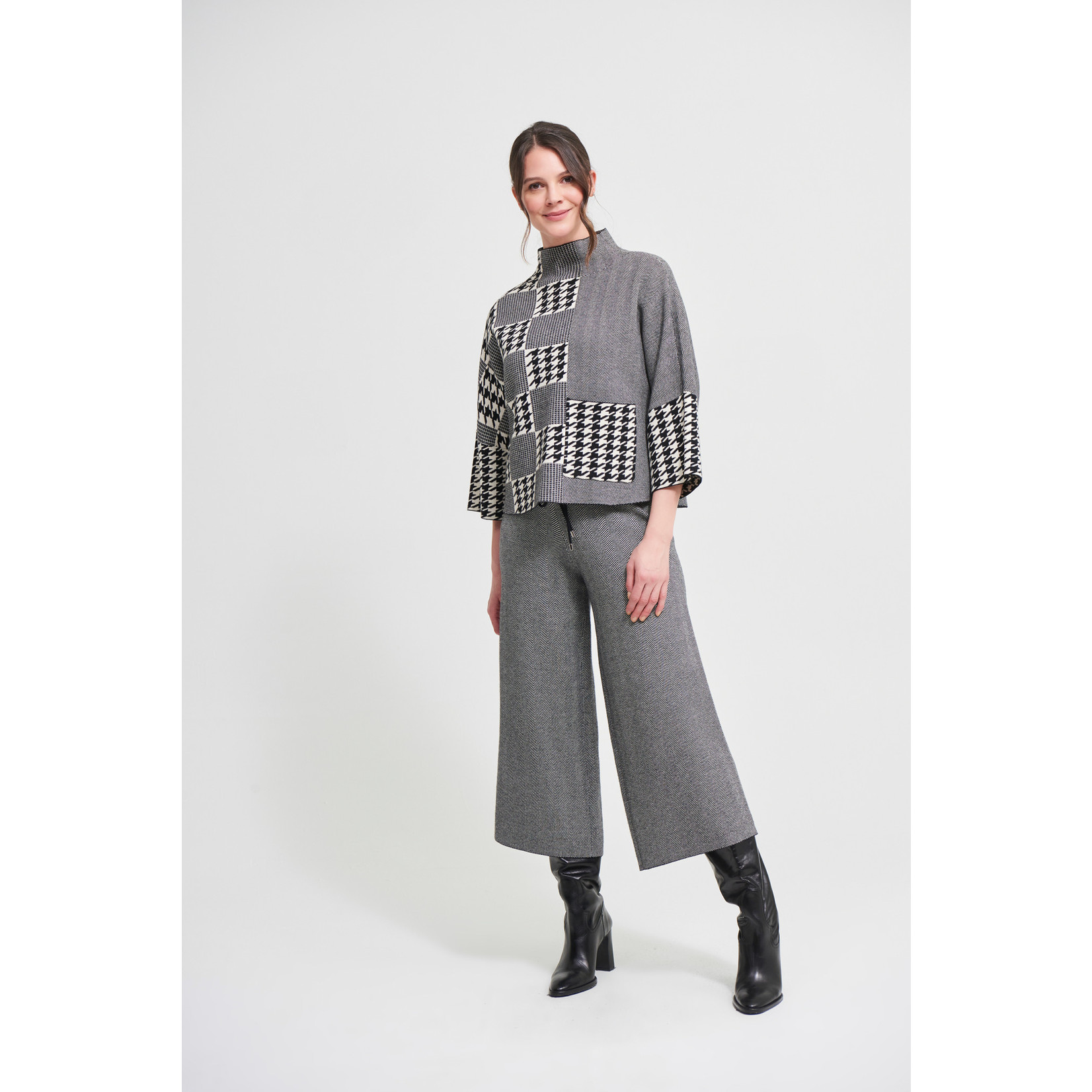 Joseph Ribkoff Houndstooth Culotte Pants Style 213920