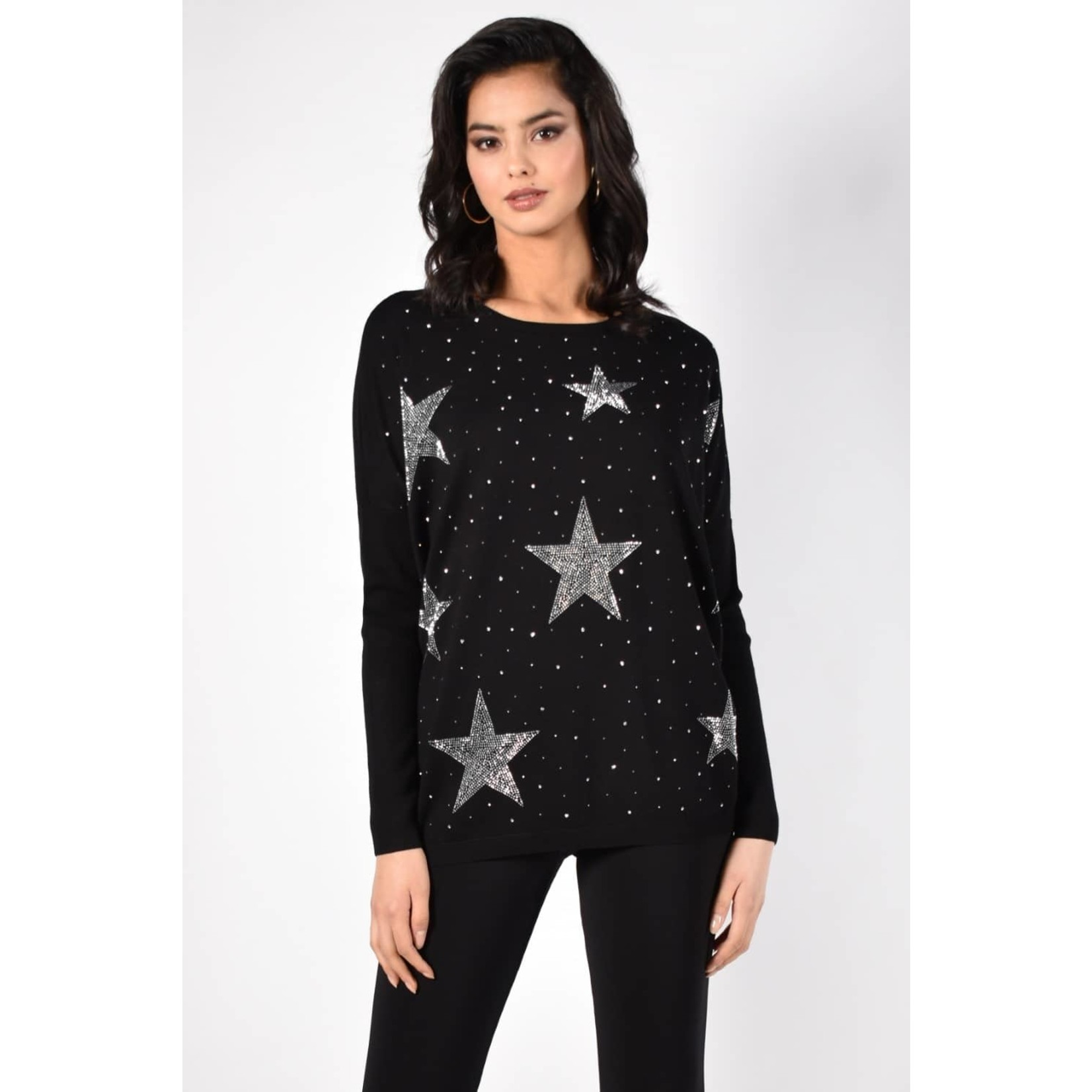 Frank Lyman Black/Silver Sweater Knit 213142U