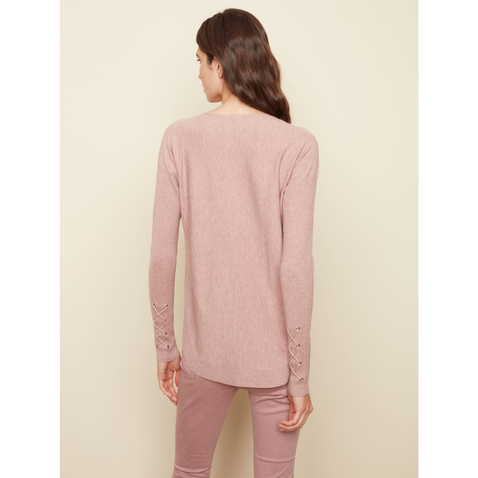 Charlie B Long Sleeve Boat Neck With Pockets