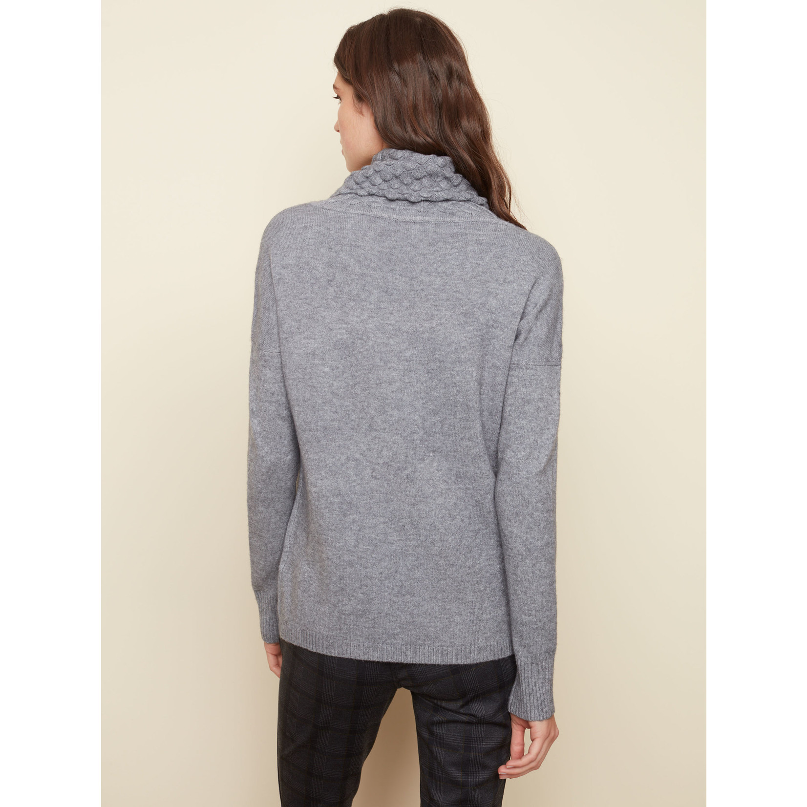 Charlie B Long Sleeve Cowl Neck With Pockets