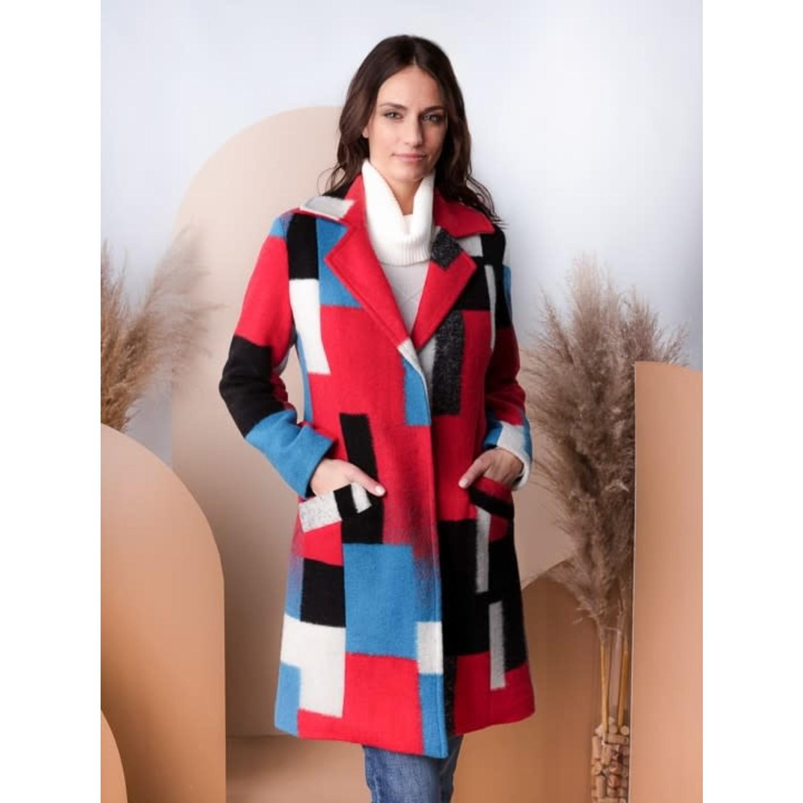 Alison Sheri Multi Coloured Coat