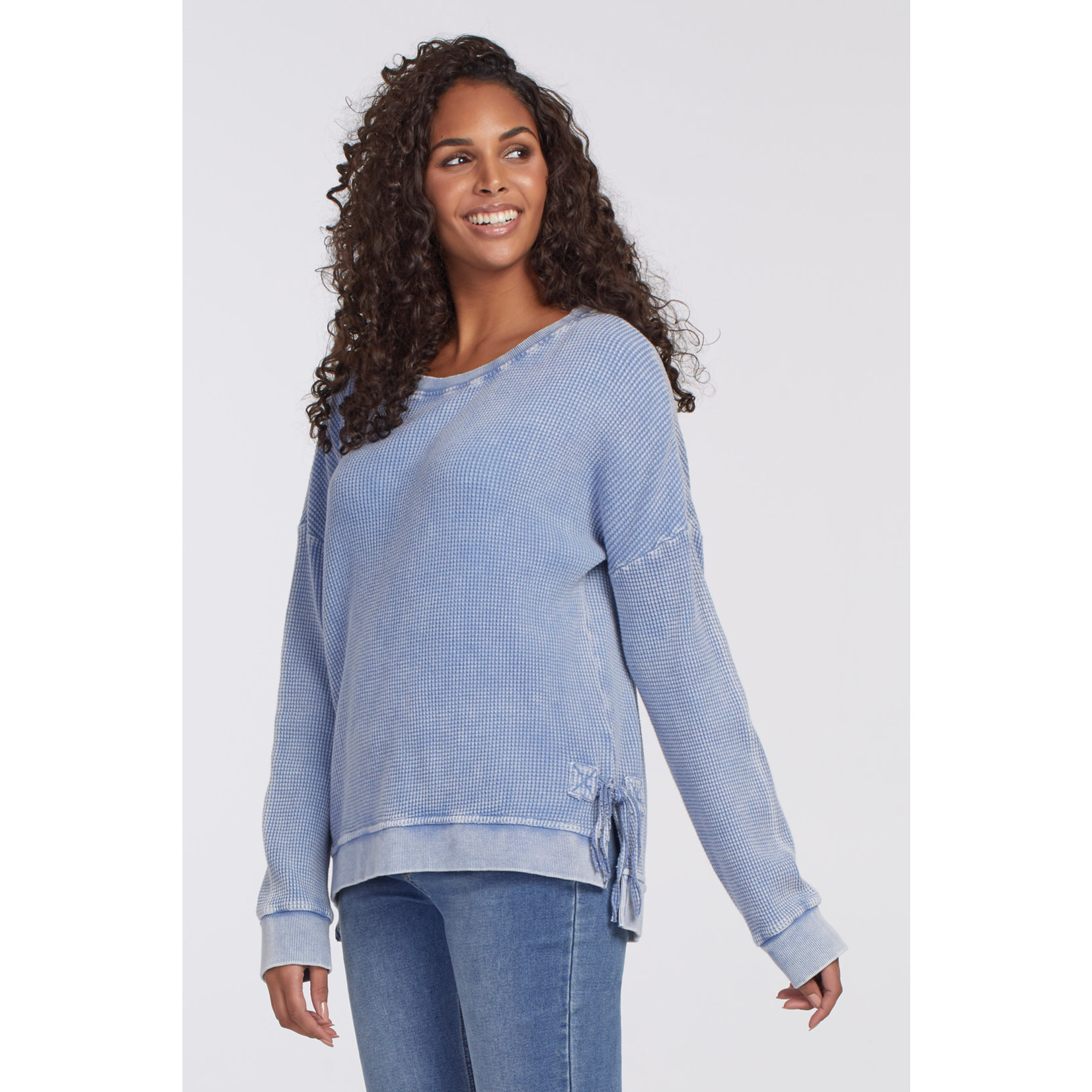 Tribal Crew Neck Top With Side Ties (2 Colors)