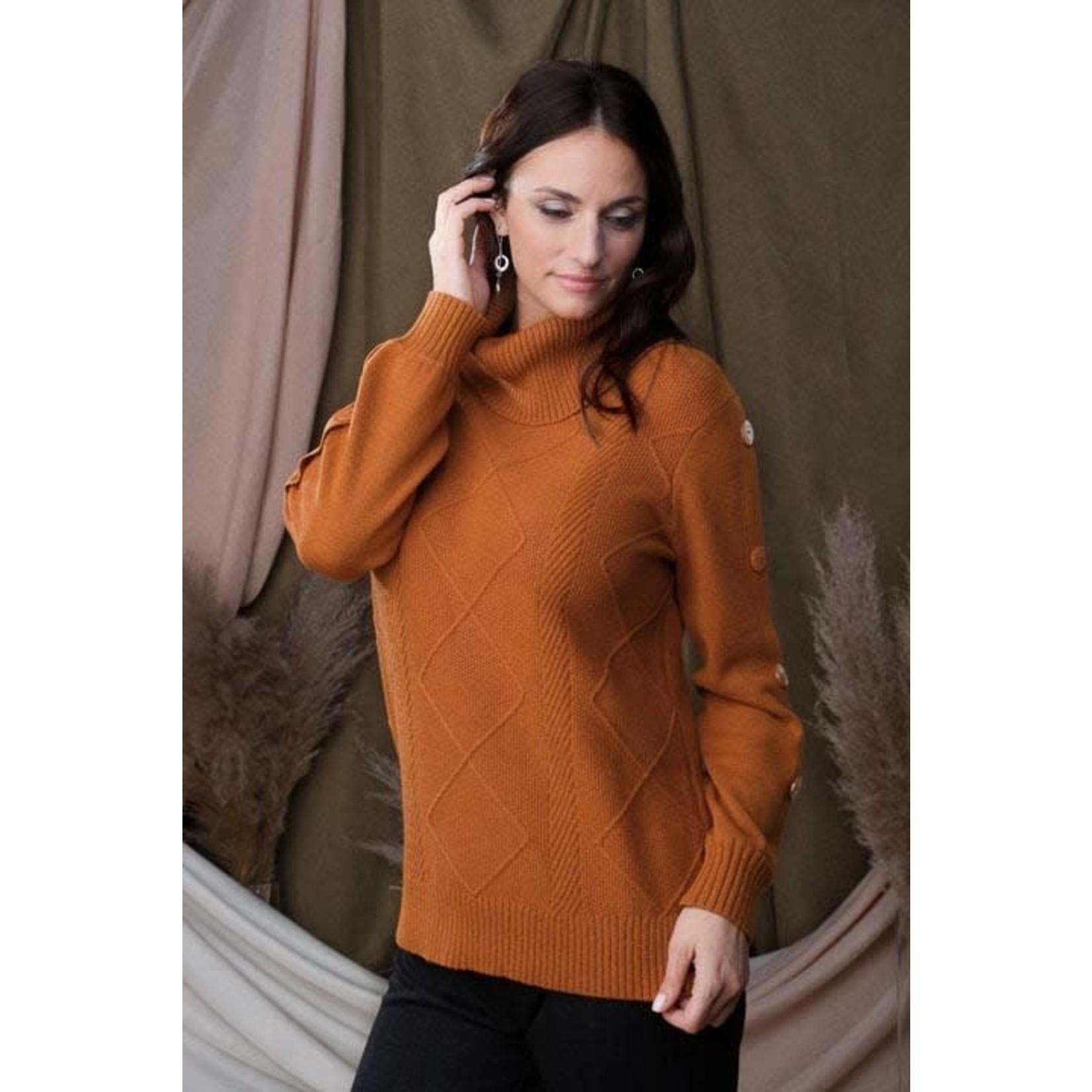 Alison Sheri Rust Sweater