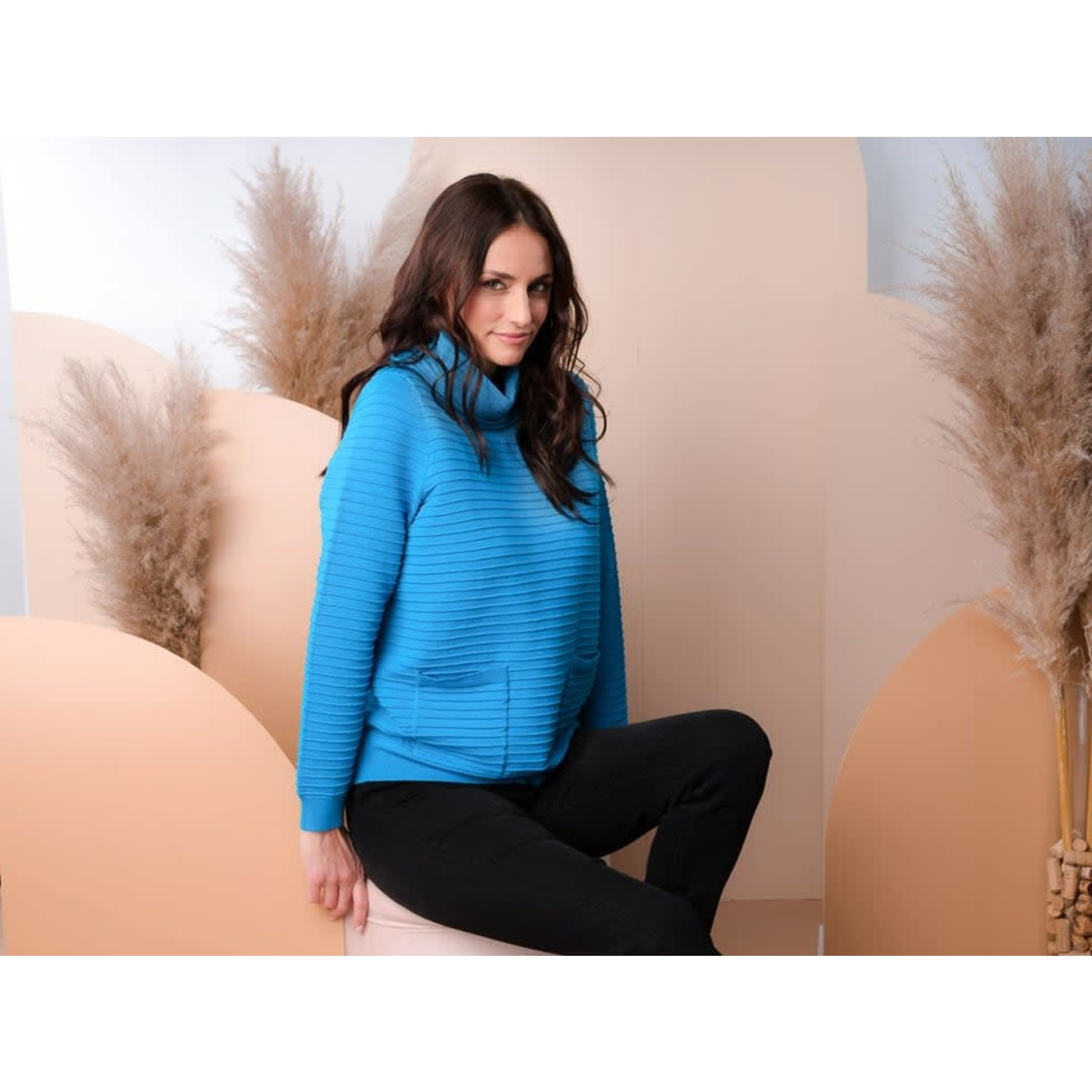 Alison Sheri Teal Sweater