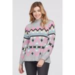 Tribal Inarsia Mock Neck Sweater