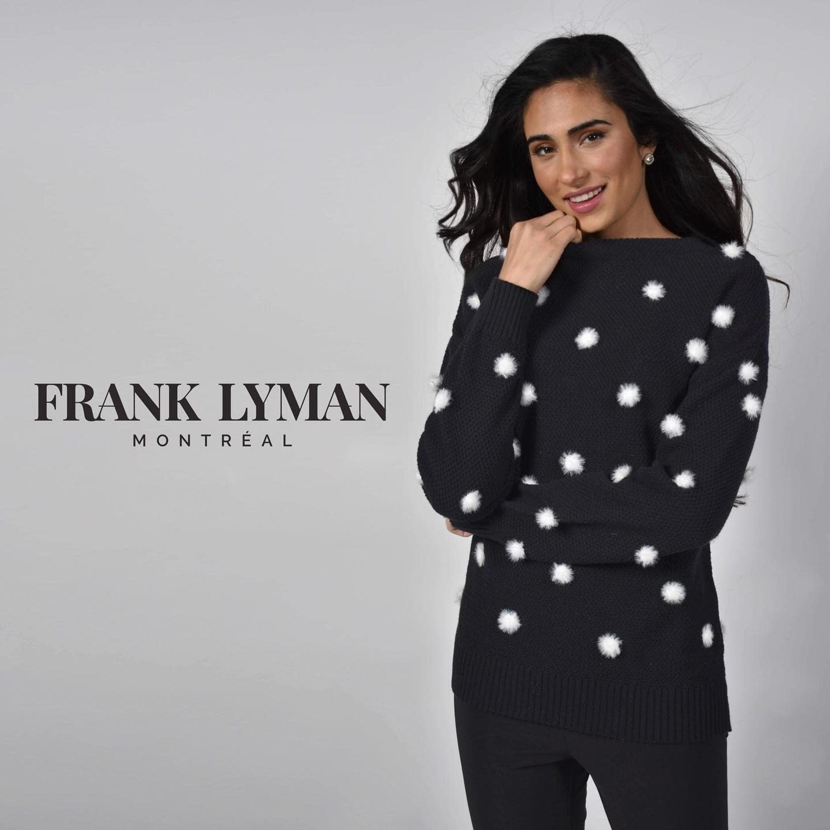 Frank Lyman Black/White Sweater Knit Top