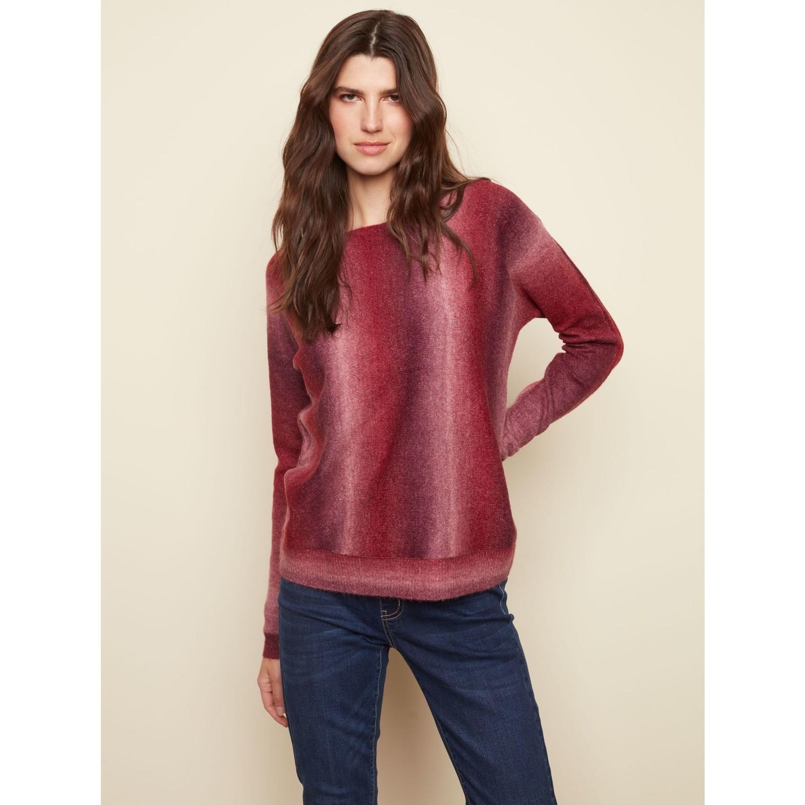 Charlie B Dolman Sleeve Boat Neck Sweater