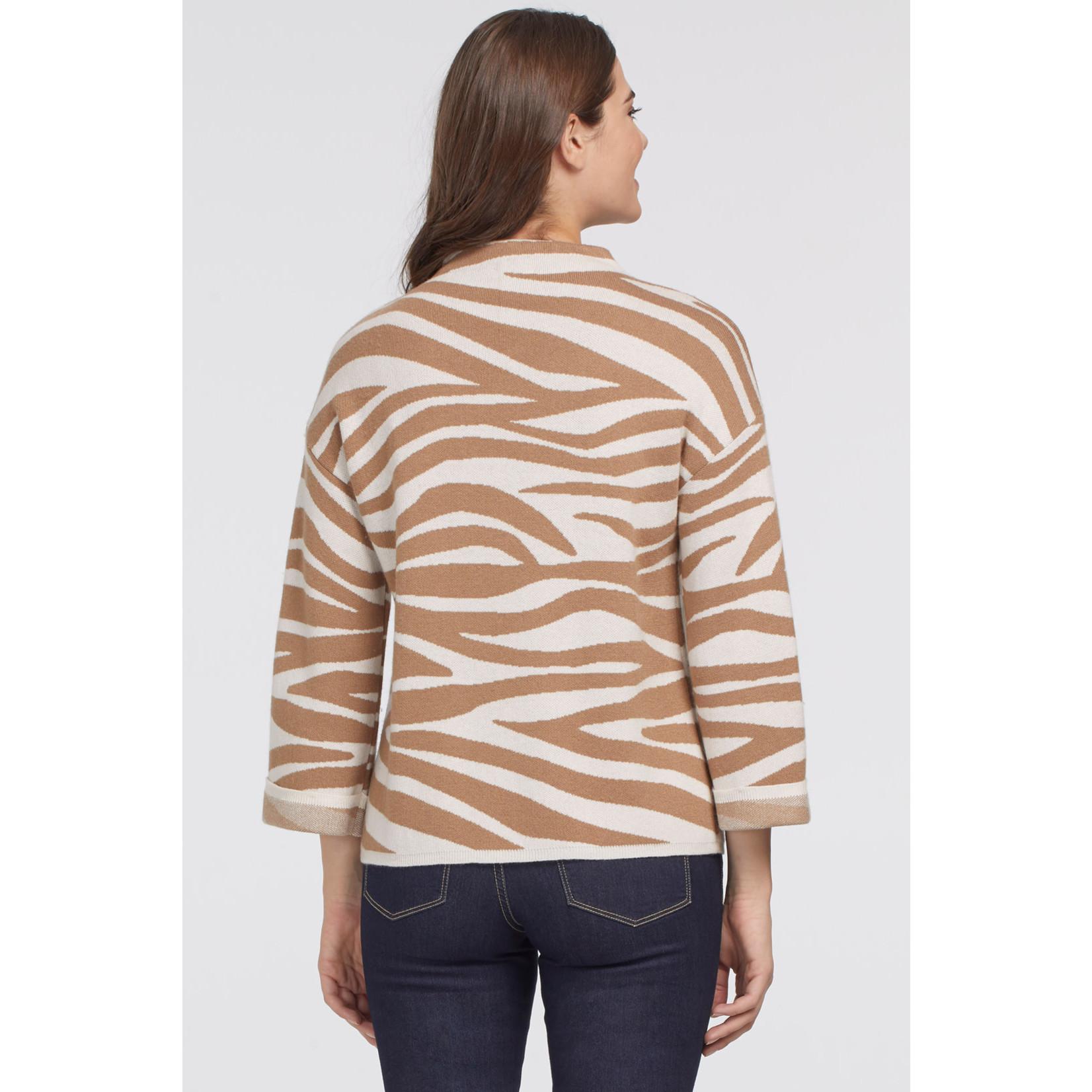 Tribal Mock Neck Sweater