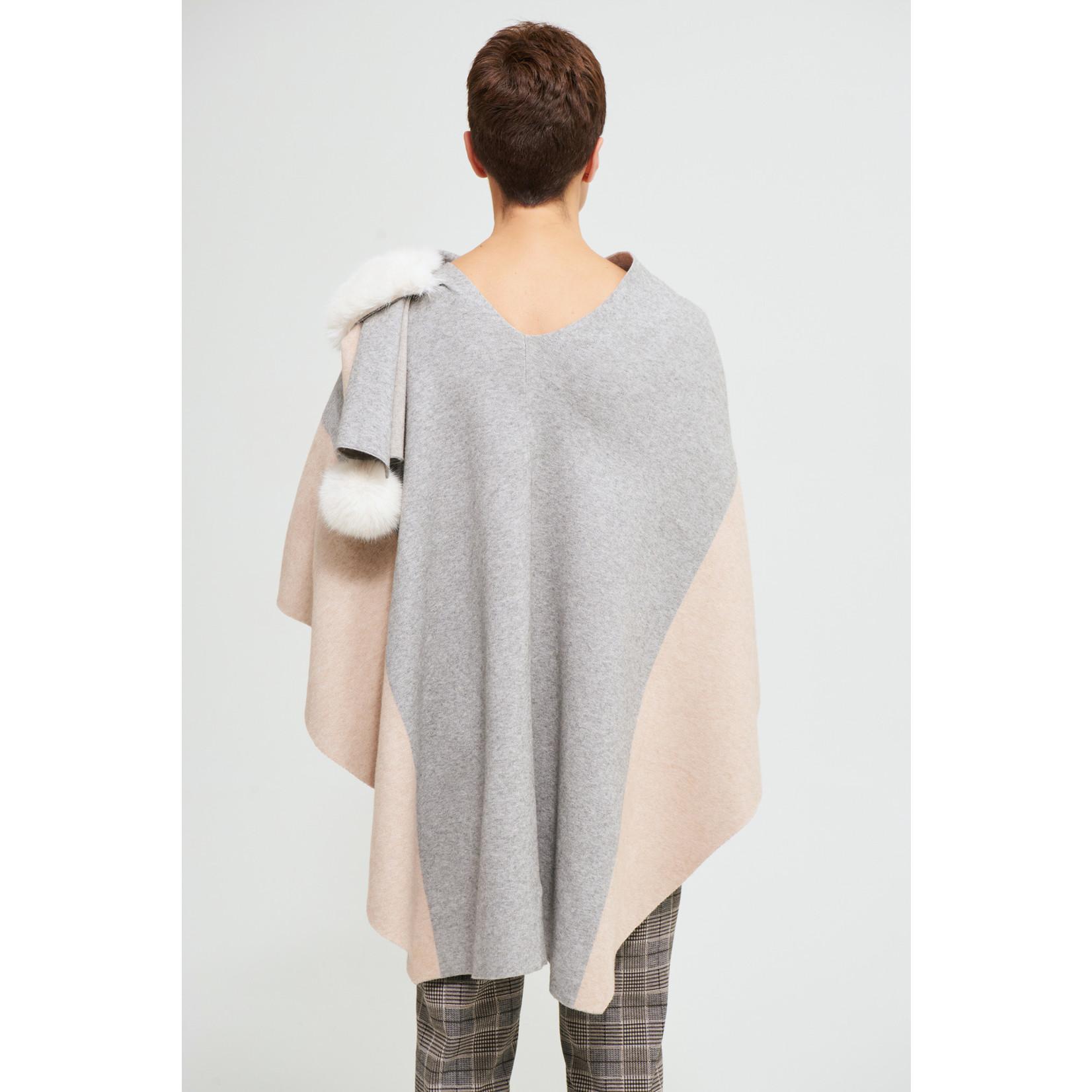 Joseph Ribkoff Faux Fur Cape Sweater Style 213944