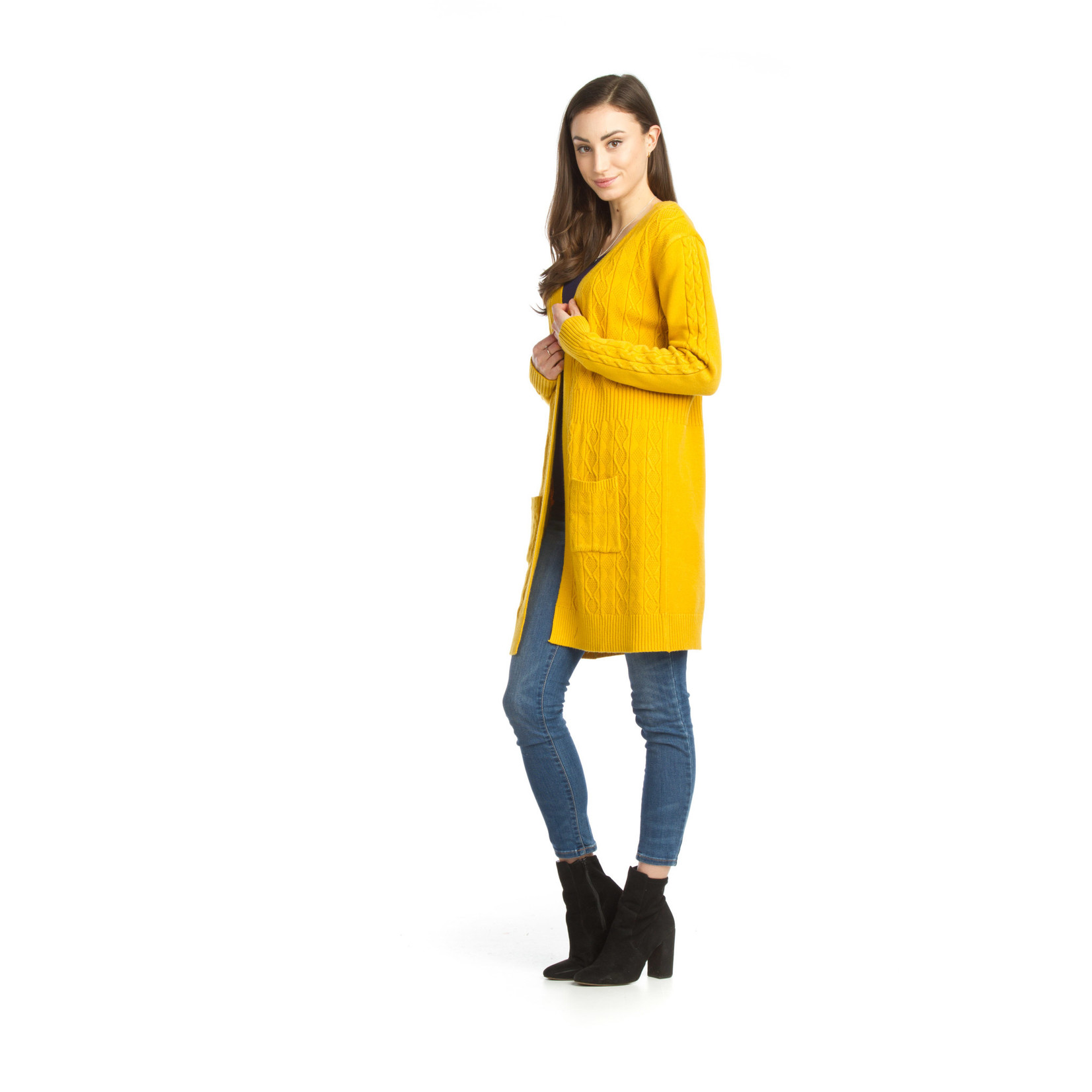 Papillon Soft Cable Knit Cardigan With Pockets