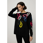 Joseph Ribkoff Embroidered Sweater