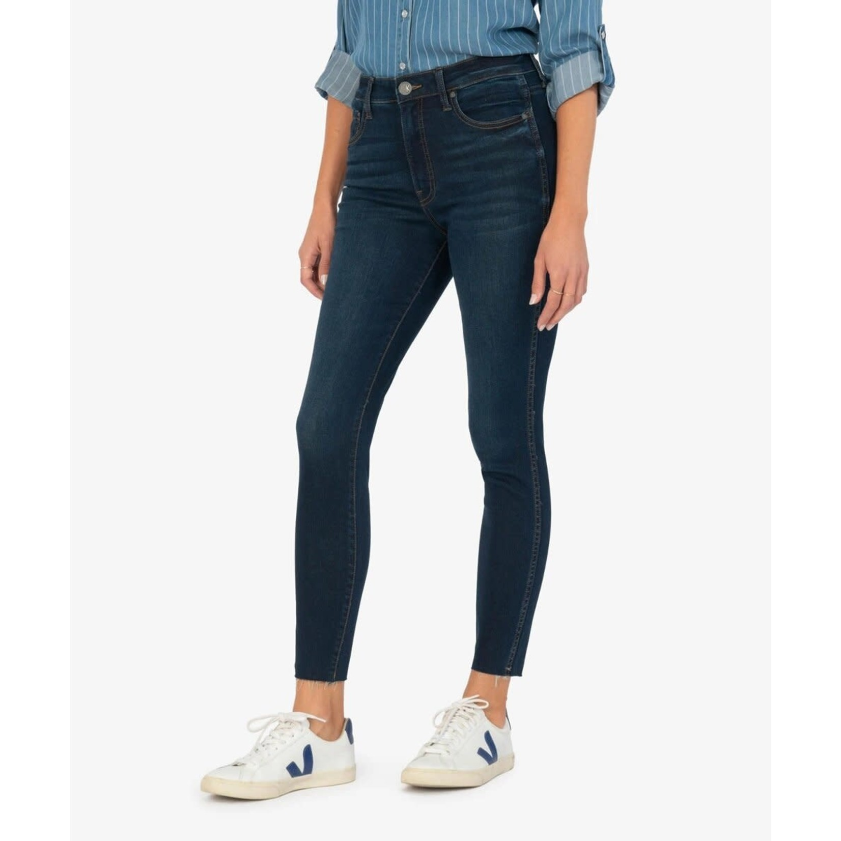 Kut From The Kloth Connie High Rise-Fab Angle Raw Hem