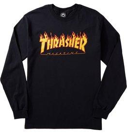 Thrasher Thrasher Flame LS Tee Black