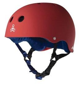 triple 8 T8 Sweatsaver Helmet Red Rubber