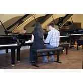 "Hidrau Model HM 43"" Super-Duet Hydraulic Artist Piano Bench 43"" Vinyl"