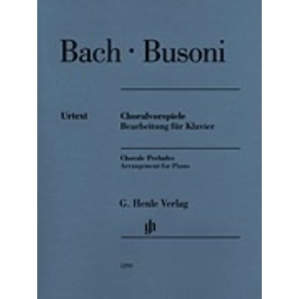 Henle Urtext Editions Bach/Busoni - Chorale Preludes