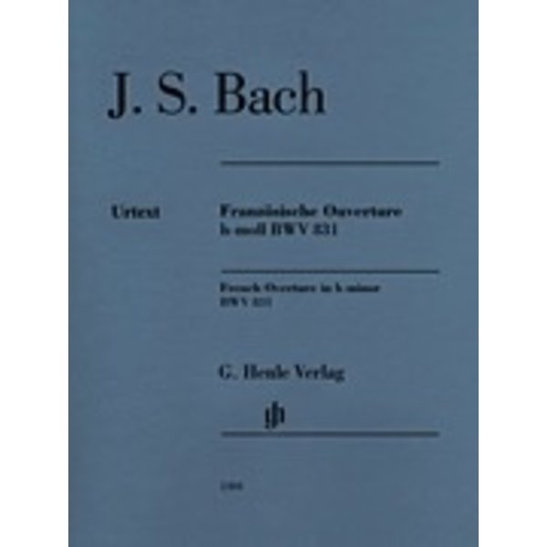 Henle Urtext Editions J.S. Bach - French Overture B Minor Bwv 831 Piano Solo
