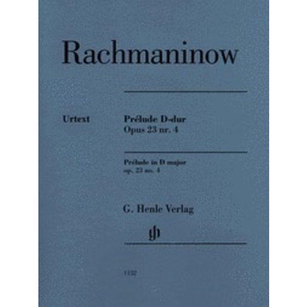 Henle Urtext Editions Rachmaninow - Prélude D-dur - Opus 23 Nr. 4