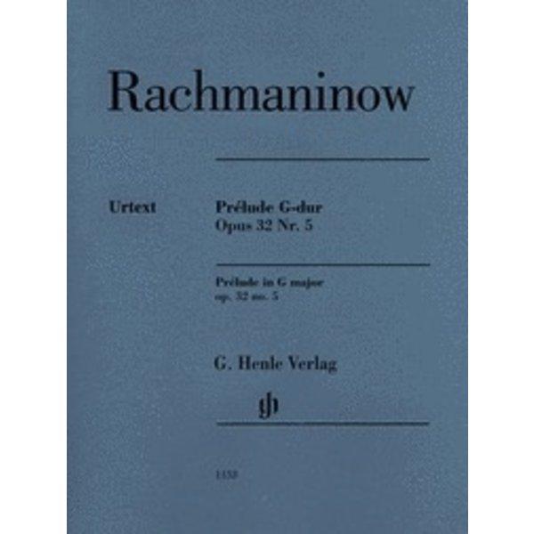 Henle Urtext Editions Rachmaninow - Prélude G-dur - Opus 32 Nr. 5