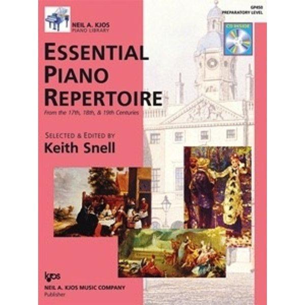 Kjos ESSENTIAL PIANO REPERTOIRE-PREP LVL-BOOK&CD
