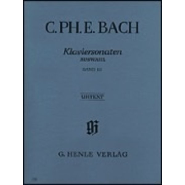 Henle Urtext Editions C. Ph. E. Bach - Selected Piano Sonatas - Volume III