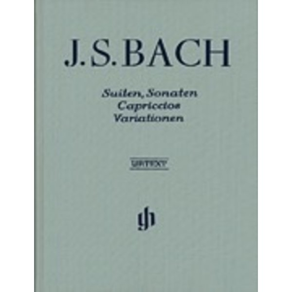 Henle Urtext Editions Bach - Suites, Sonatas, Capriccios, Variations Hardcover w/ fingering