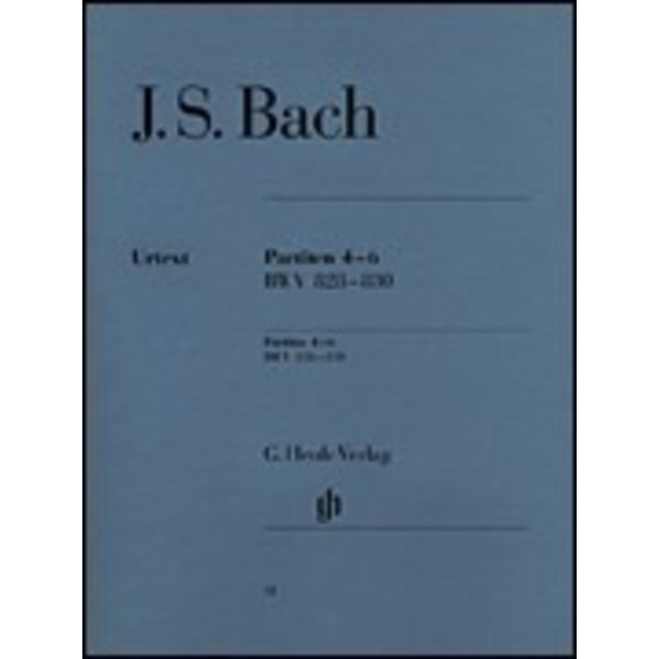 Henle Urtext Editions J.S. Bach - Partitas 4-6 BWV 828-830