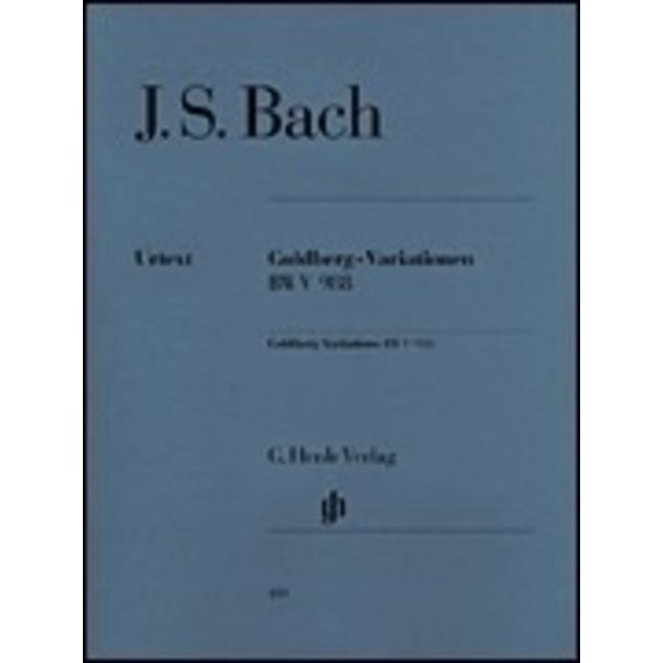 Henle Urtext Editions J.S. Bach - Goldberg Variations BWV 988
