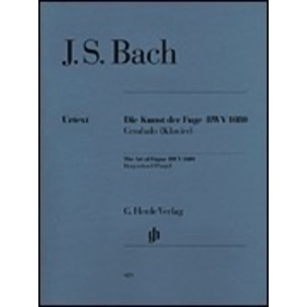 Henle Urtext Editions Art of the Fugue BWV 1080