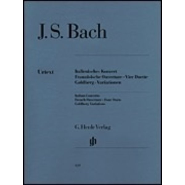 Henle Urtext Editions J.S. Bach - Italian Concerto, French Overture, Four Duets, Goldberg Variations