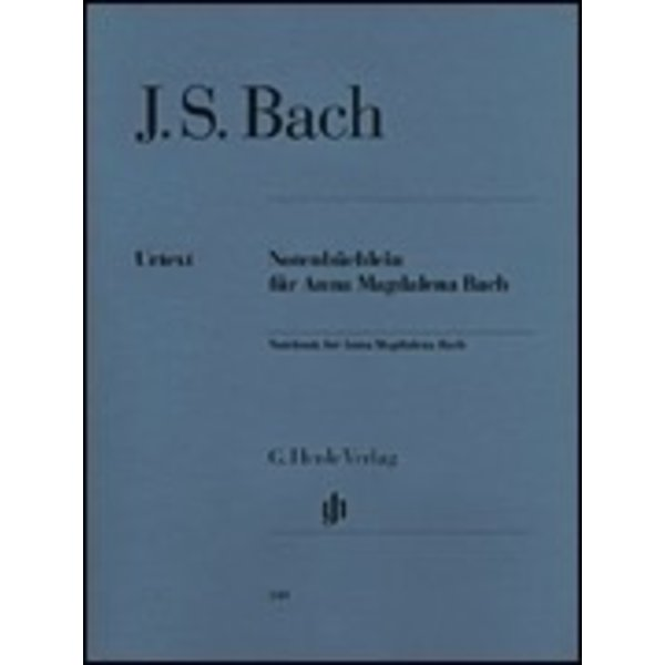 Henle Urtext Editions J.S. Bach - Notebook for Anna Magdalena Bach w/ fingering
