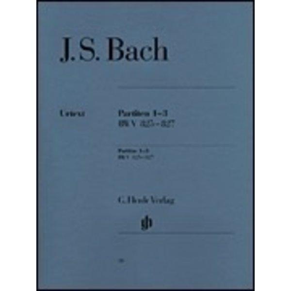 Henle Urtext Editions J.S. Bach - Partitas 1-3 BWV 825-827