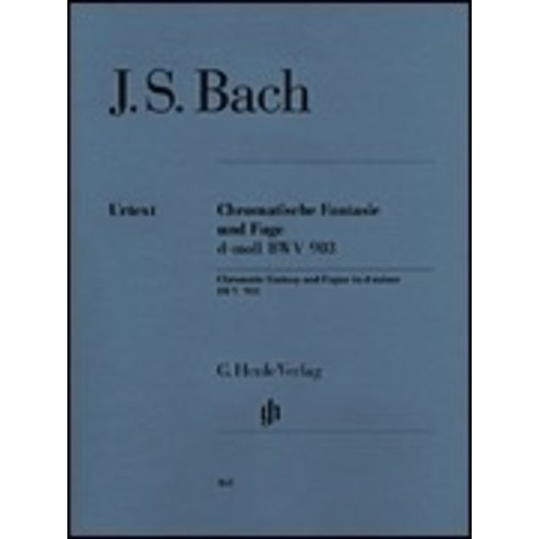 Henle Urtext Editions J.S. Bach - Chromatic Fantasy and Fugue D minor BWV 903 and 903a