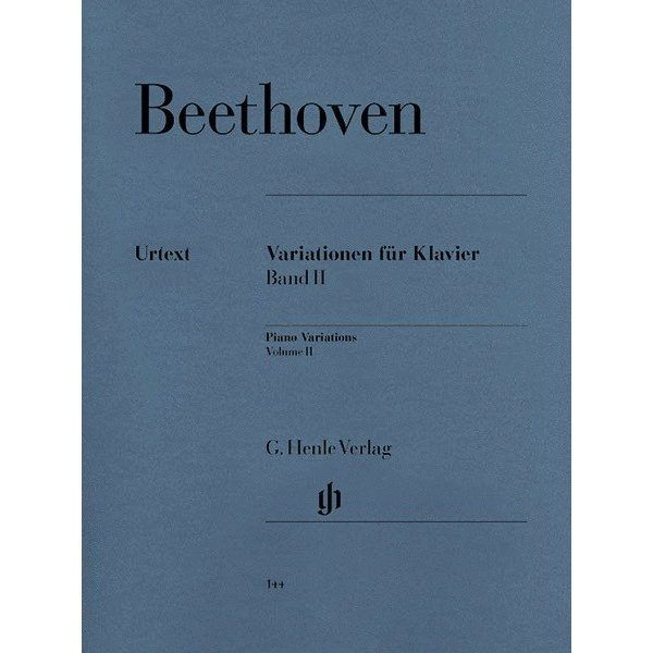 Henle Urtext Editions Beethoven - Variations for Piano - Volume II