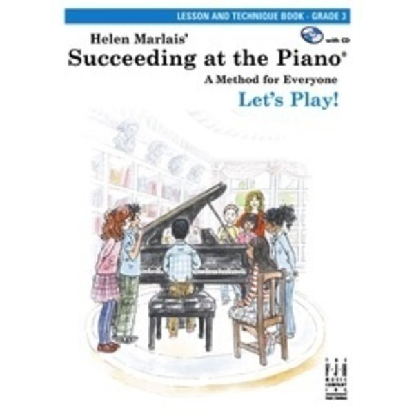 FJH Succeeding at the Piano, Lesson and Technique Book - Grade 3 (with CD) 2nd Edition