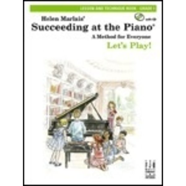 FJH Succeeding at the Piano, Lesson and Technique Book - Grade 1 (with CD)