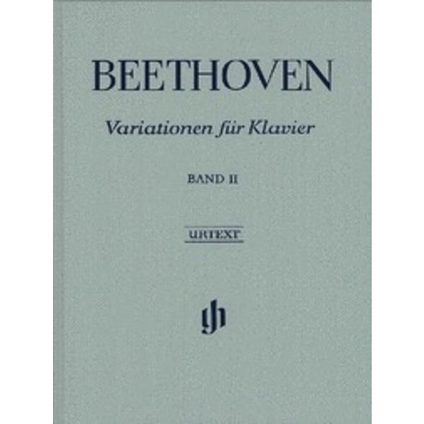 Henle Urtext Editions Beethoven - Variations for Piano - Volume II Hardcover