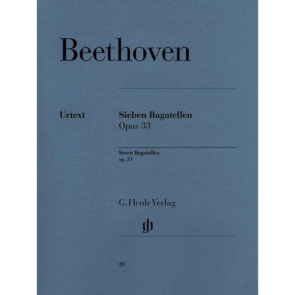 Henle Urtext Editions Beethoven - 7 Bagatelles Op. 33