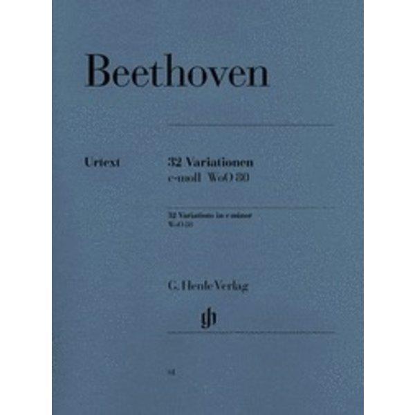 Henle Urtext Editions Beethoven - 32 Variations C Minor WoO 80