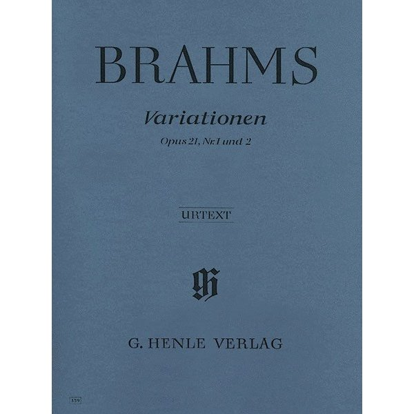Henle Urtext Editions Brahms - Variations Op. 21 Nos. 1 and 2