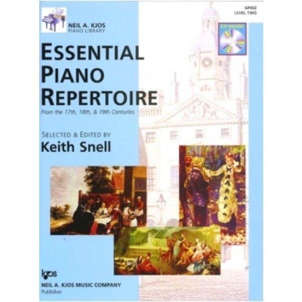 Kjos ESSENTIAL PIANO REPERTOIRE-LEVEL 2-BOOK&CD