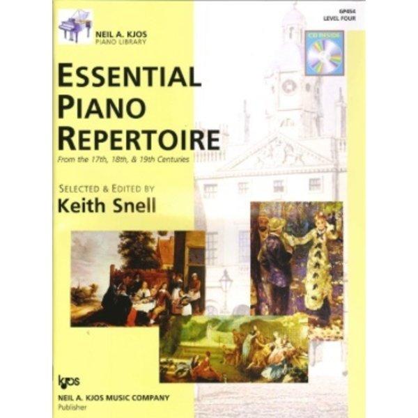 Kjos ESSENTIAL PIANO REPERTOIRE-LEVEL 4-BOOK&CD