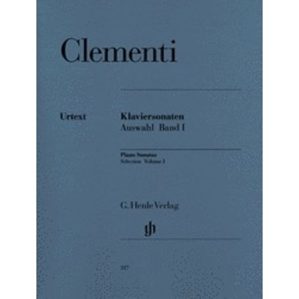Henle Urtext Editions Clementi - Selected Piano Sonatas - Volume I (1768-1785)