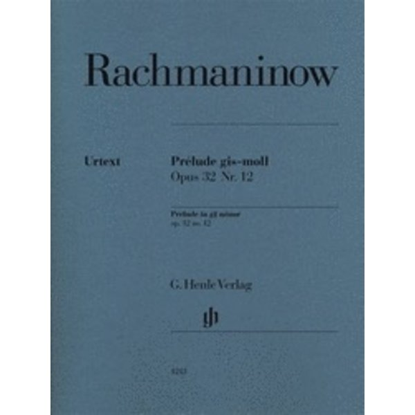 Henle Urtext Editions Rachmaninow - Prélude in G-sharp minor, Op. 32 No. 12