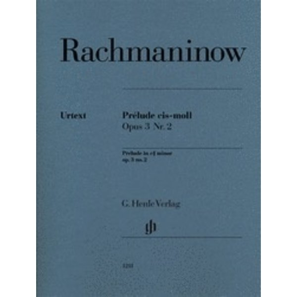 Henle Urtext Editions Rachmaninoff - Prélude in C-sharp minor, Op. 3, No. 2